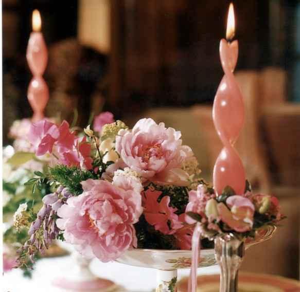 candele e peonie