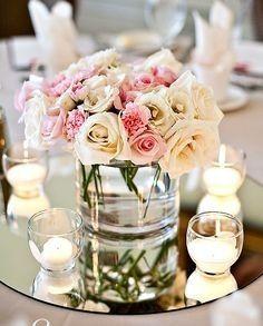 Allestimento tavolo tiffany mare fiori che confusione for Centrotavola matrimonio candele