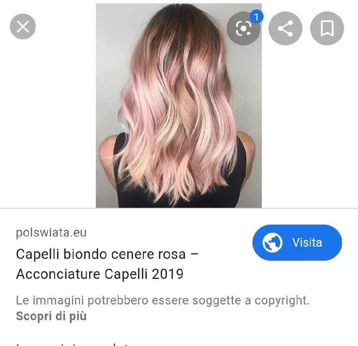 Capelli colorati sposa - 1