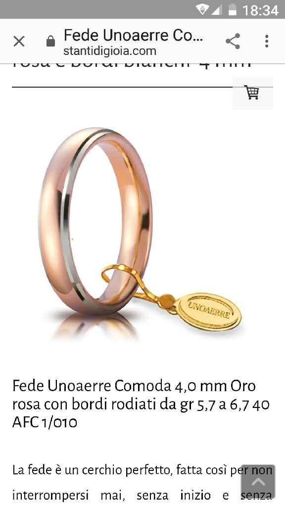 Fedi nuziali unoaerre - 1