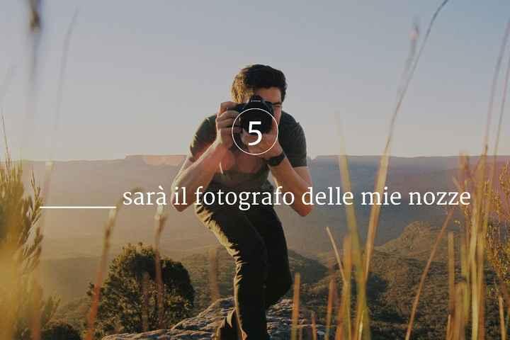 ____ sarà il fotografo delle mie nozze