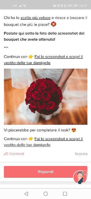 Fai lo screenshot e scopri il tuo bouquet 25