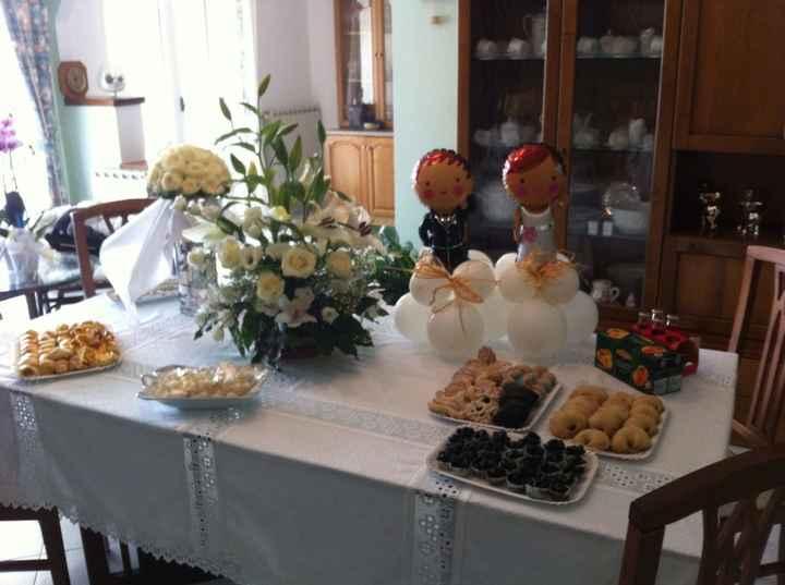 Buffet prima del matrimonio a casa dei suoceri