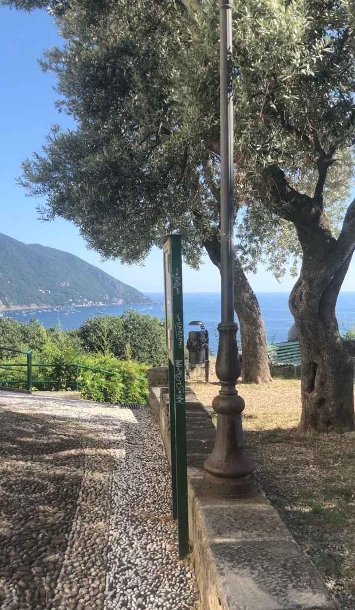 Vista Portofino dalla chiesa