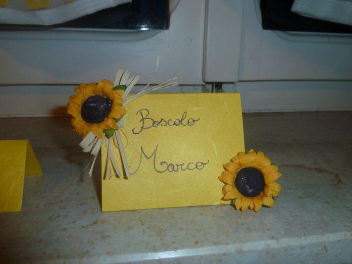 Segnaposto Matrimonio Con Girasoli : Segnaposto girasoli fai da te forum matrimonio