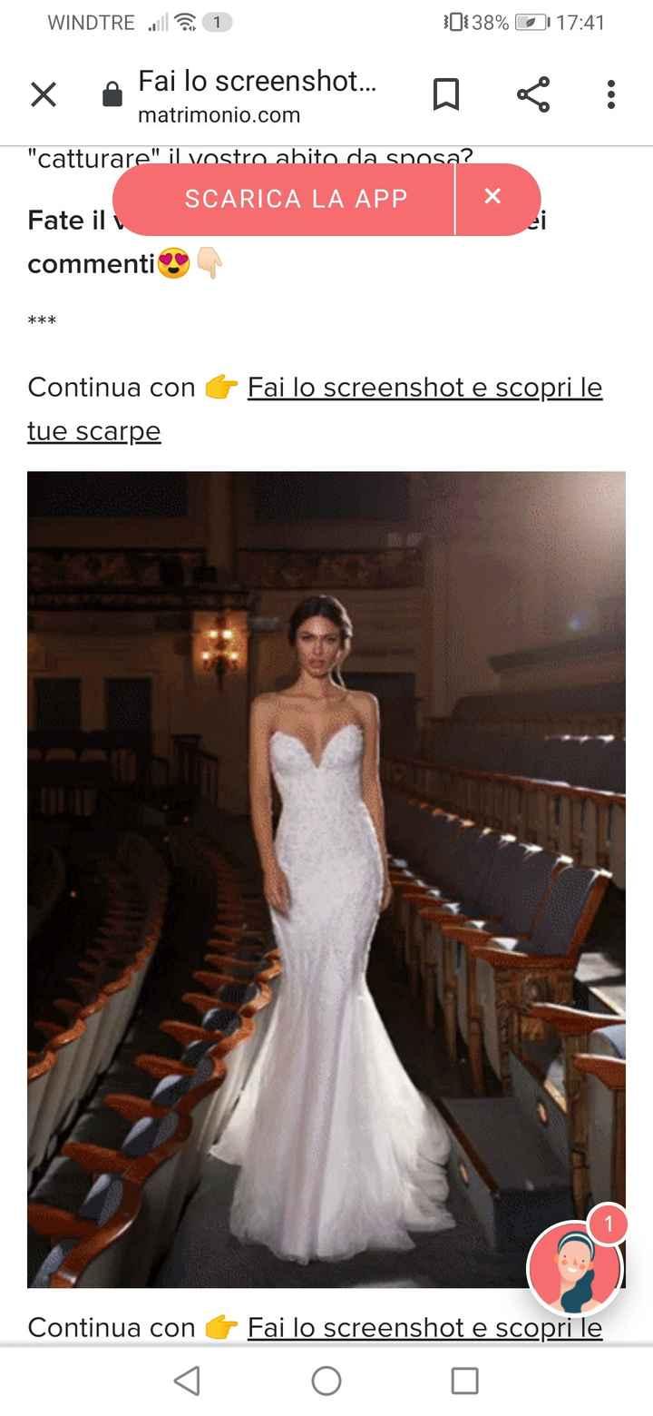 Fai lo screenshot e scopri il tuo abito da sposa 4