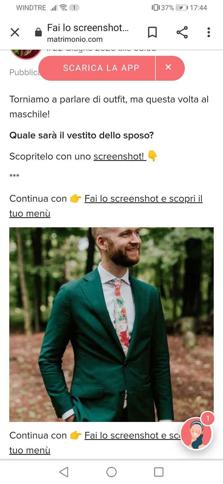 Fai lo screenshot e scopri il vestito dello sposo 4
