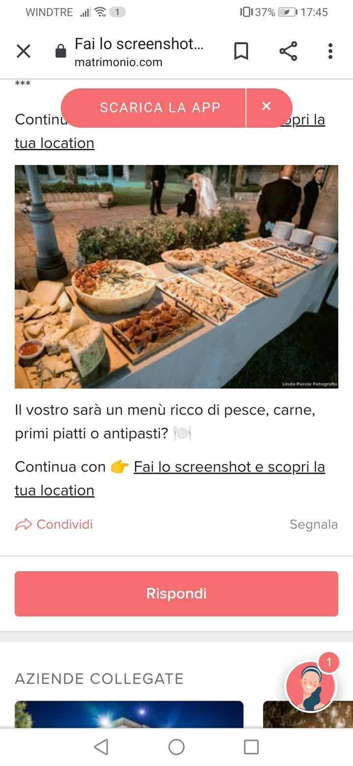 Fai lo screenshot e scopri il tuo menù 4