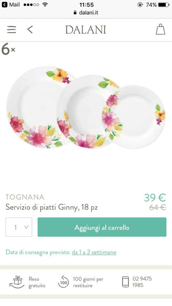 Servizio di piatti - 1