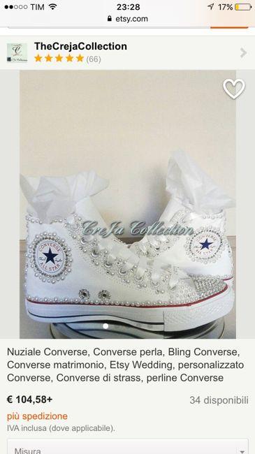 aafda0e1cc65 Converse sposa - Moda nozze - Forum Matrimonio.com