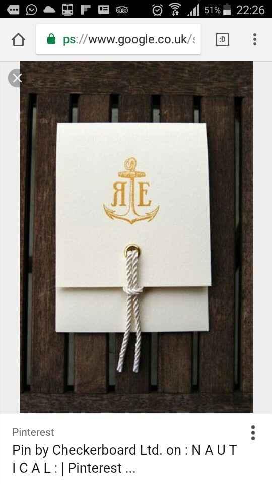 Inviti tema nautico - 1