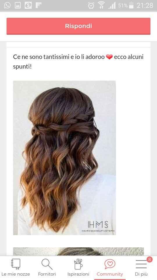 Semi raccolto capelli lunghi - 1
