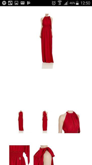 Outfit vestito rosso - 1