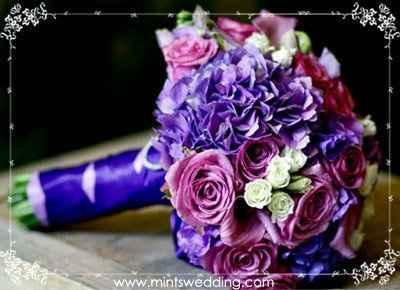 bouquet sul lilla/viola/fuxia