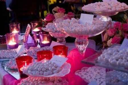 confettata rosa lilla fuxia