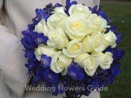 Bouquet Rose-Delphinium blu