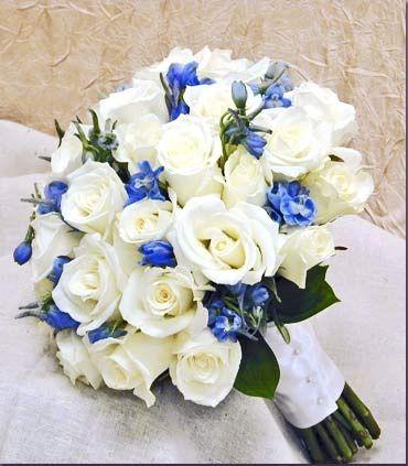 Bouquet rose - delphinuim blu