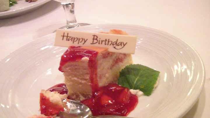 torta per il mio compleanno....per me in crociera