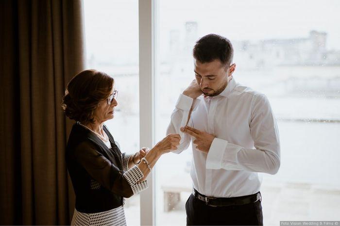 Look sposo: la foto della preparazione 1
