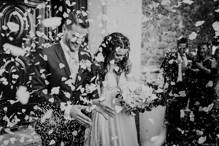 #Instantphoto: l'uscita degli sposi 2