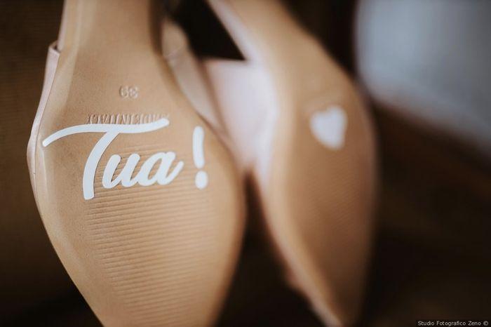 Suola delle scarpe con dedica: sì o no? 1
