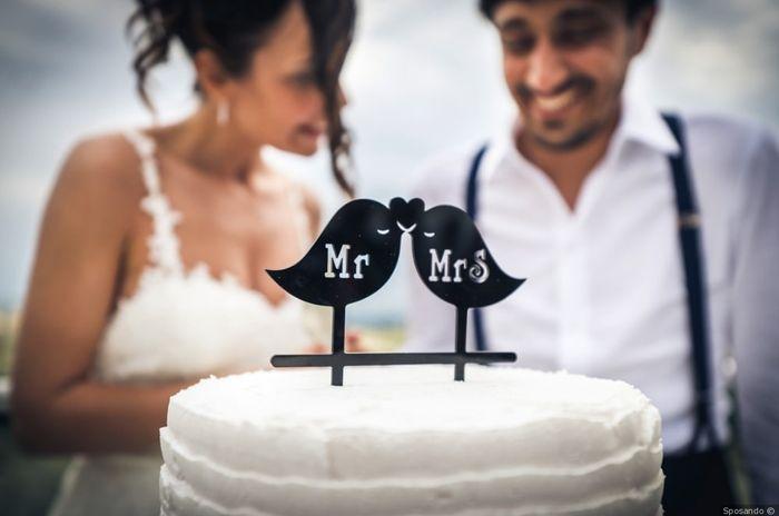 Cake topper matrimonio tema amore 1