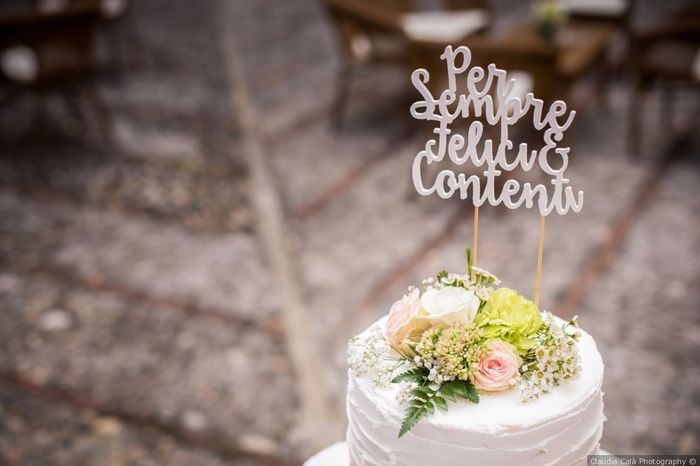 Cake topper matrimonio tema amore 2