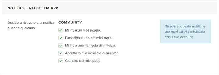 I passi per gestire le notifiche del tuo account - 2
