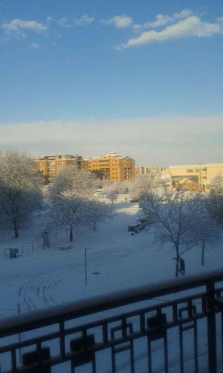 E anche al sud nevica - 1