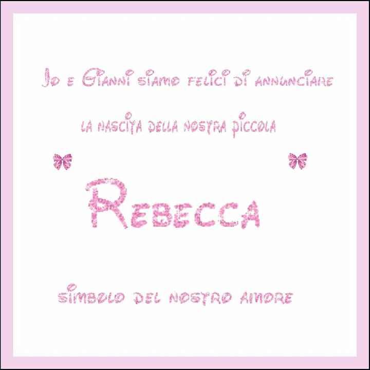 Benvenuta rebecca - 1