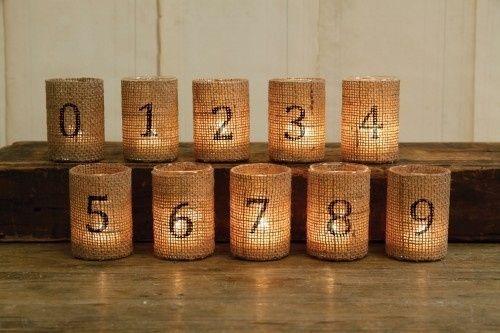 Idee per numerare i tavoli fai da te forum - Numeri per tavoli fai da te ...