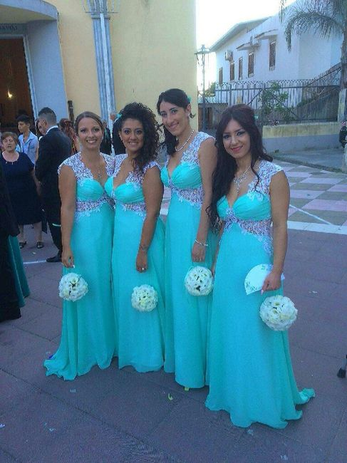 61d8b7ff9b68 Abiti damigelle color tiffany    - Moda nozze - Forum Matrimonio.com