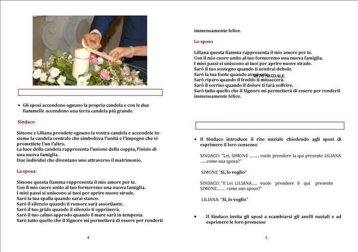 Libretto Matrimonio Simbolico : Libretto rito civile pagina fai da te forum