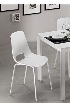 sedie bianche in ecopelle cucina 1 foto