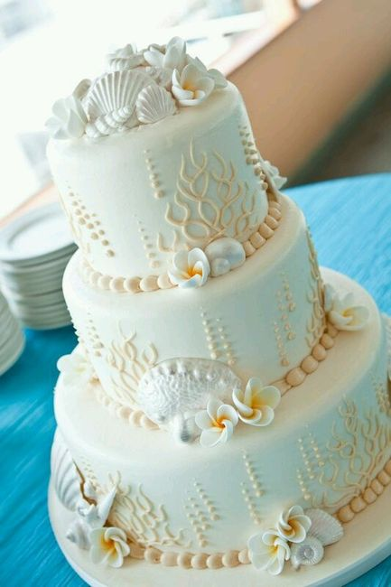 Plumeria Wedding Cake Pinterest