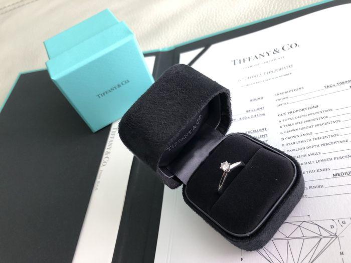 Il mio solitario Tiffany abbinato alla fede ! - 1