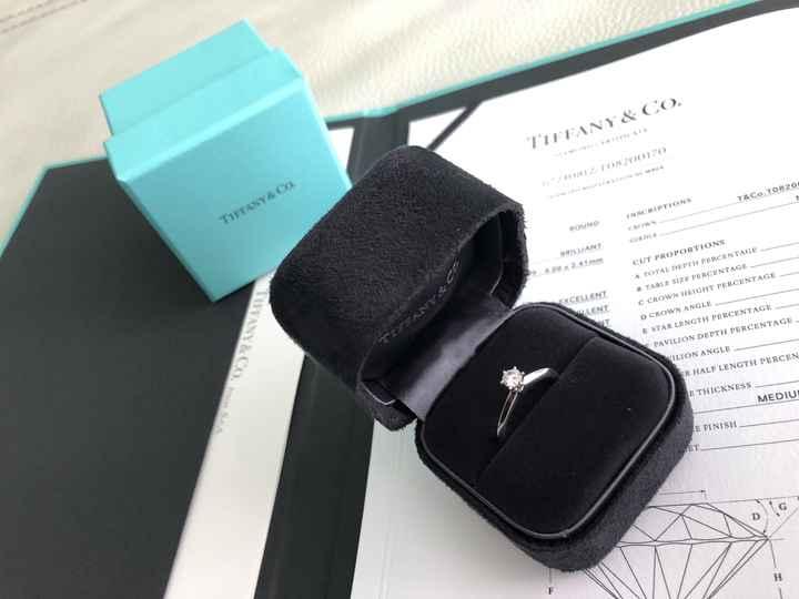 Il mio solitario Tiffany abbinato alla fede ! 1