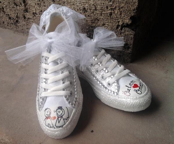 Super La sposa con le scarpe da ginnastica - bianche - Moda nozze  TX88