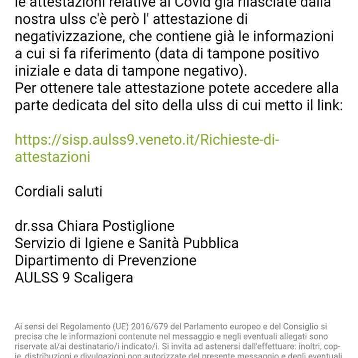 Info green pass - 1