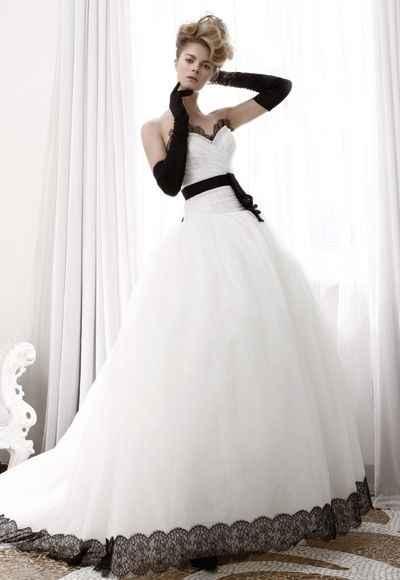 vestito black and white