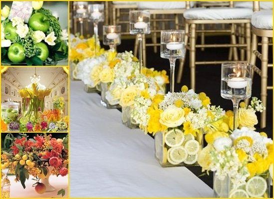 Tavoli Matrimonio Girasoli : Addobbi floreali con frutta cosa ne pensate
