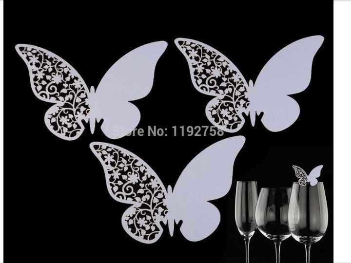 Segnatavolo farfalla - 2