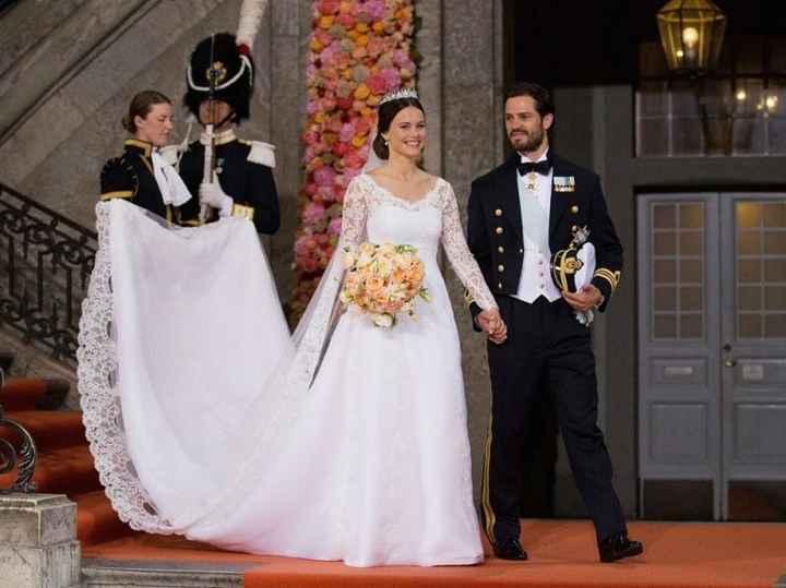 La principessa Sofia di Svezia, loro cognata (moglie del fratello), di origini non aristocratiche.