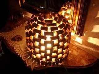 Lampada in sughero