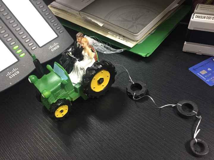 Sposi sul trattore :) - 1