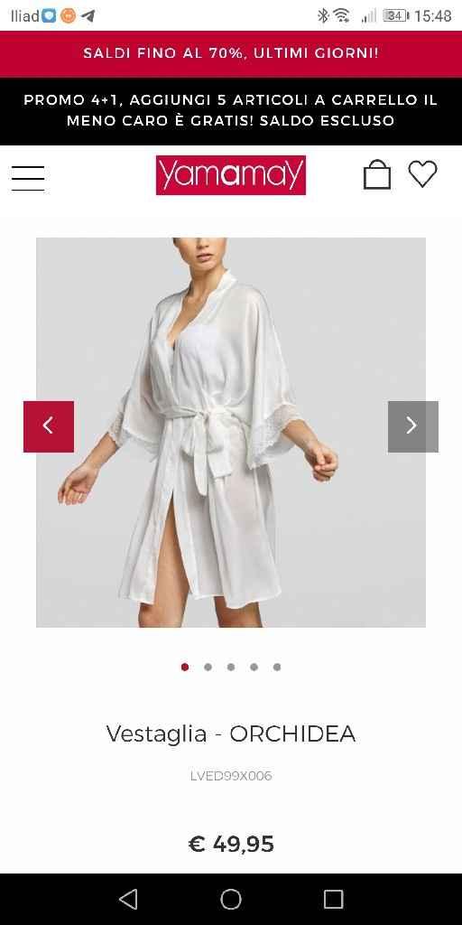 Vestaglia intimissimi e kimono yamamay??? - 2