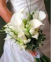 bouquet in bianco