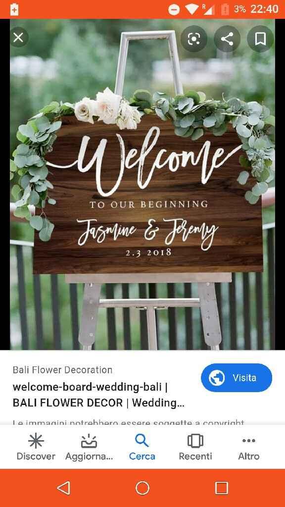 Welcome wedding board - 1