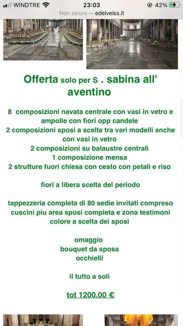 Fioraio per matrimonio a S. Sabina - 1