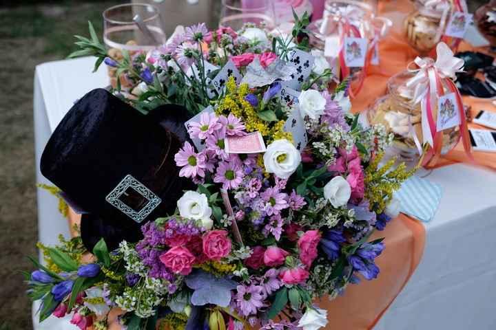 Composizione su tavolo cerimonia